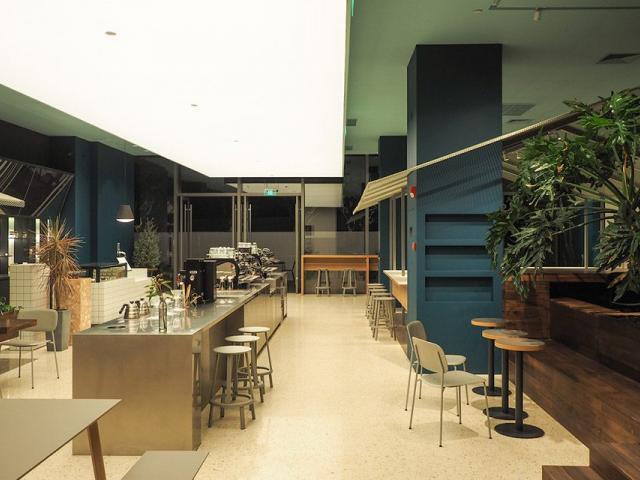 深圳Seesaw咖啡店-水磨石
