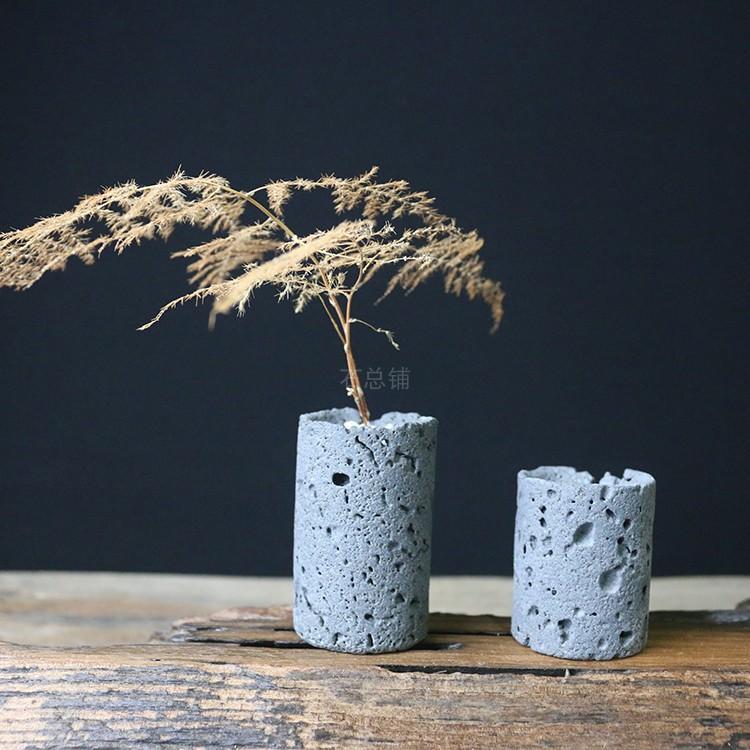 火山岩透气盆栽插花
