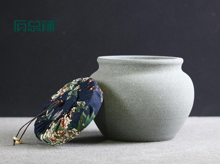 古陶储物罐.茶叶罐