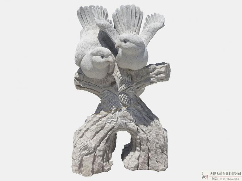 石雕-小鸟