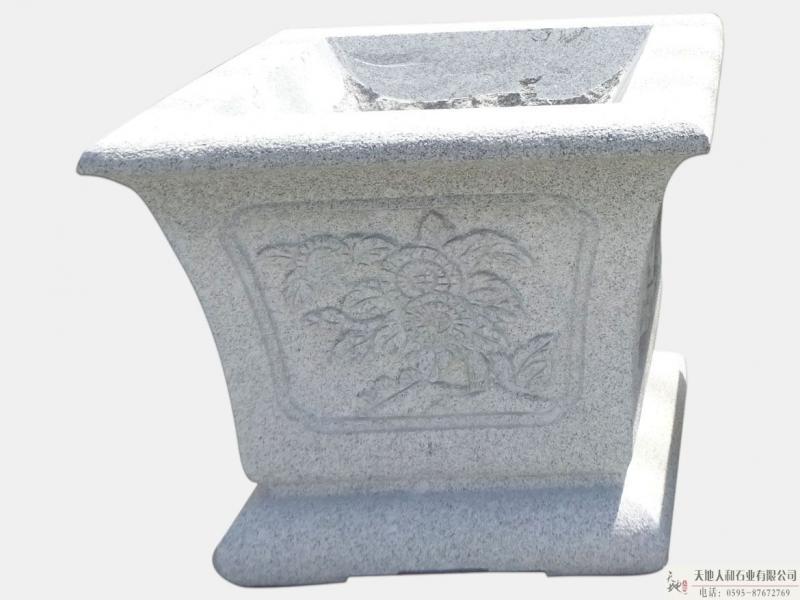 石雕-花缸