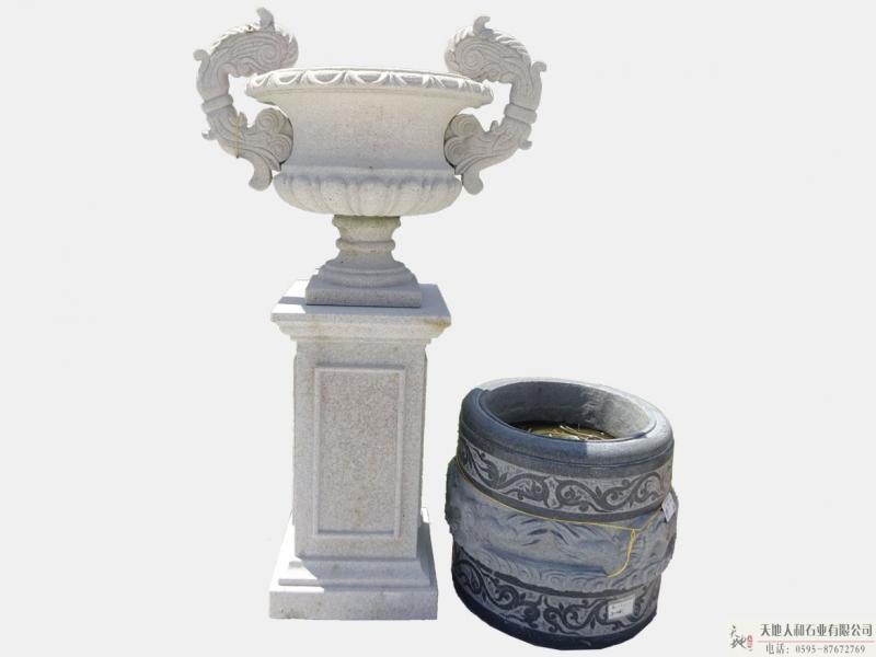 石雕-花缸2