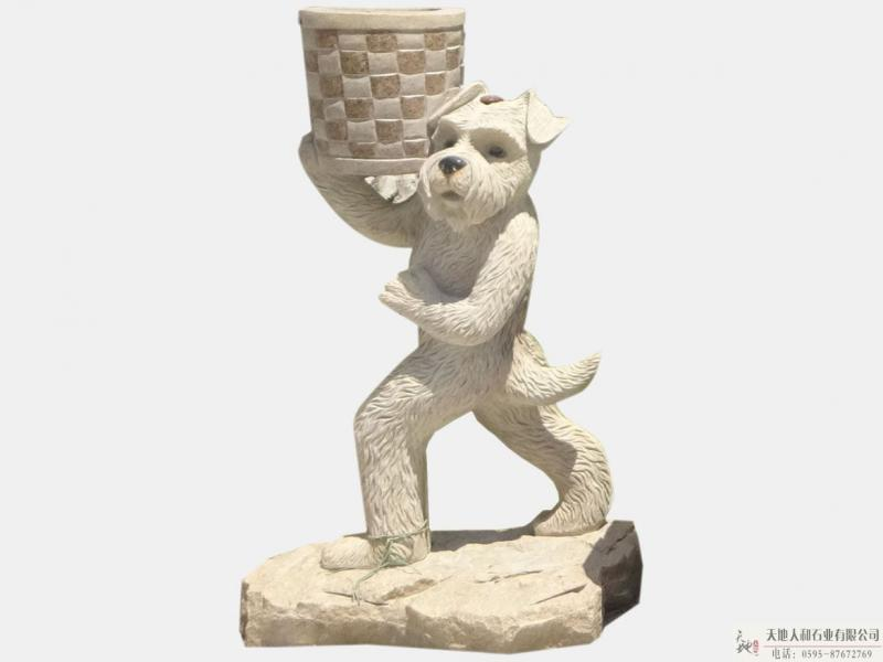石雕-垃圾桶