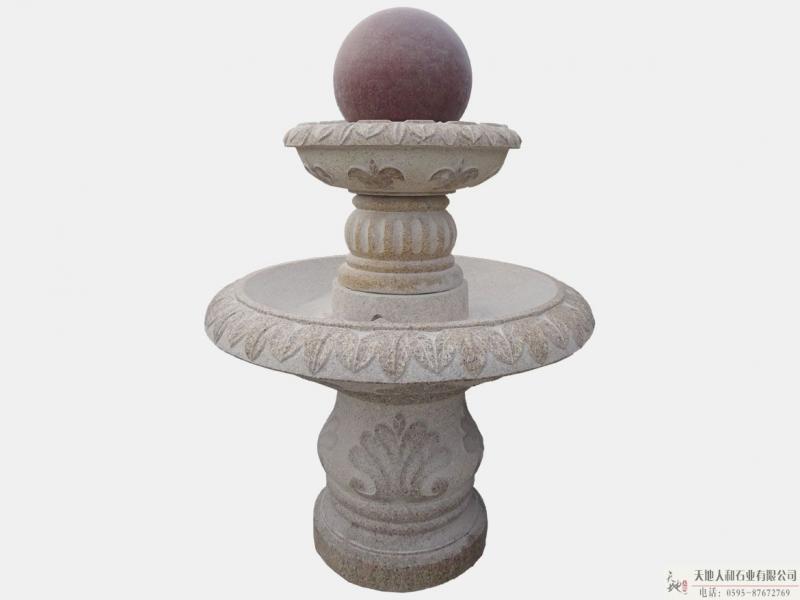 石雕-喷水池