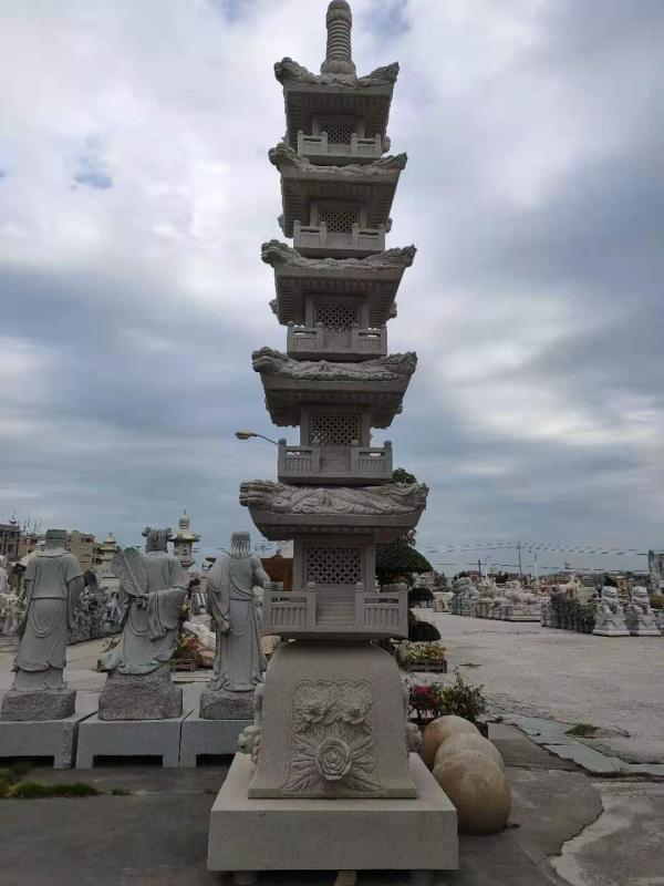 廠家供應古建工程九龍塔雕刻設計