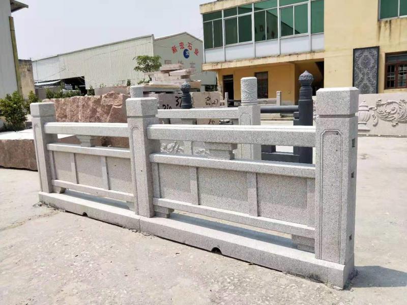 厂家供应古建别墅石雕栏杆护围杆子