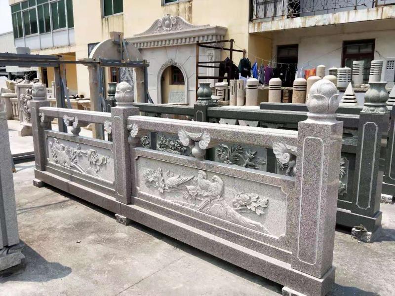 厂家供应景观古建石雕栏杆