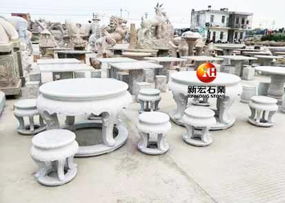 厂家供应石雕石桌椅靠椅