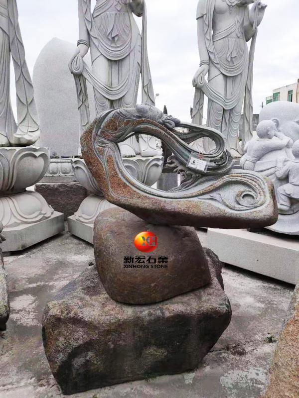 厂家供应公园广场寺庙工程石雕青石天外飞仙雕刻设计