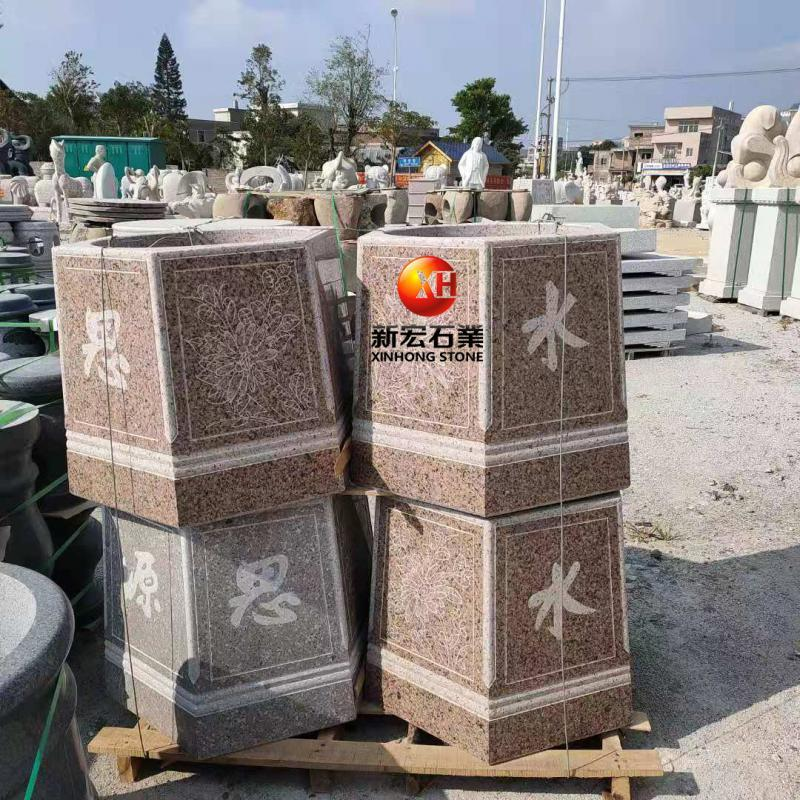廠家供應庭院井口石雕井蓋擺件花崗巖雕刻