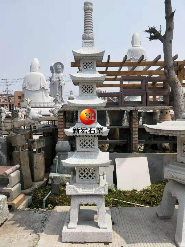 廠家供應公園廣場寺廟工程石雕五層塔雕刻設計