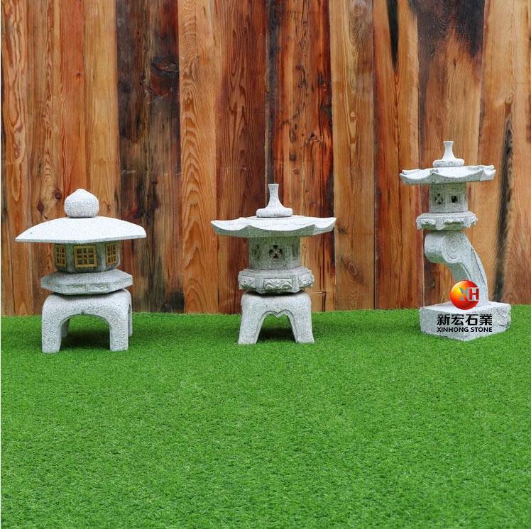 厂家供应石雕灯笼日式庭院景观户外石雕灯笼