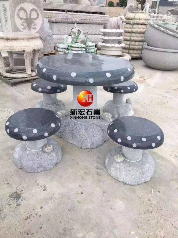 厂家供应石桌椅庭院石凳花园户外石雕桌子茶桌石头椅