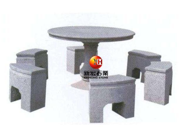 厂家供应石桌椅庭院石桌椅园户外石雕桌子茶桌石头椅