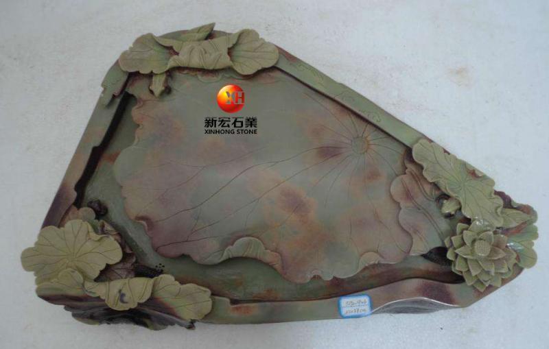 厂家供应天然石雕玉石茶盘茶具套装定做石雕浮雕茶盘