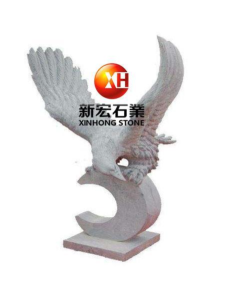 厂家供应石雕雕鹰景观区公园小区雕塑摆件