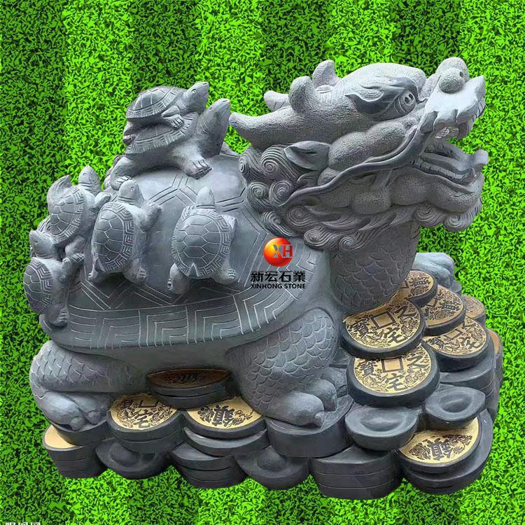 厂家供应石雕龙龟长寿招财平安健康吉祥风水摆件