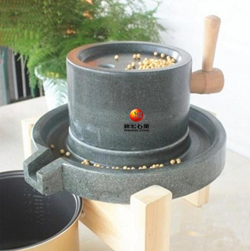 厂家供应小石磨家用盘老石磨青石石磨盘手工石磨家用迷你豆浆机