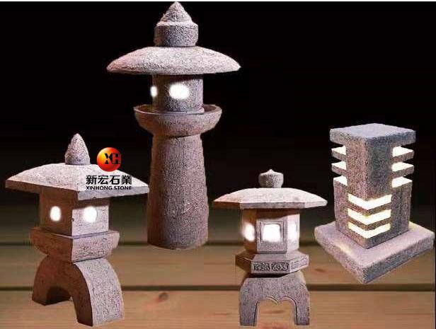 厂家供应石雕石灯笼户外庭院日式园林景观照明草坪石地灯塔装饰