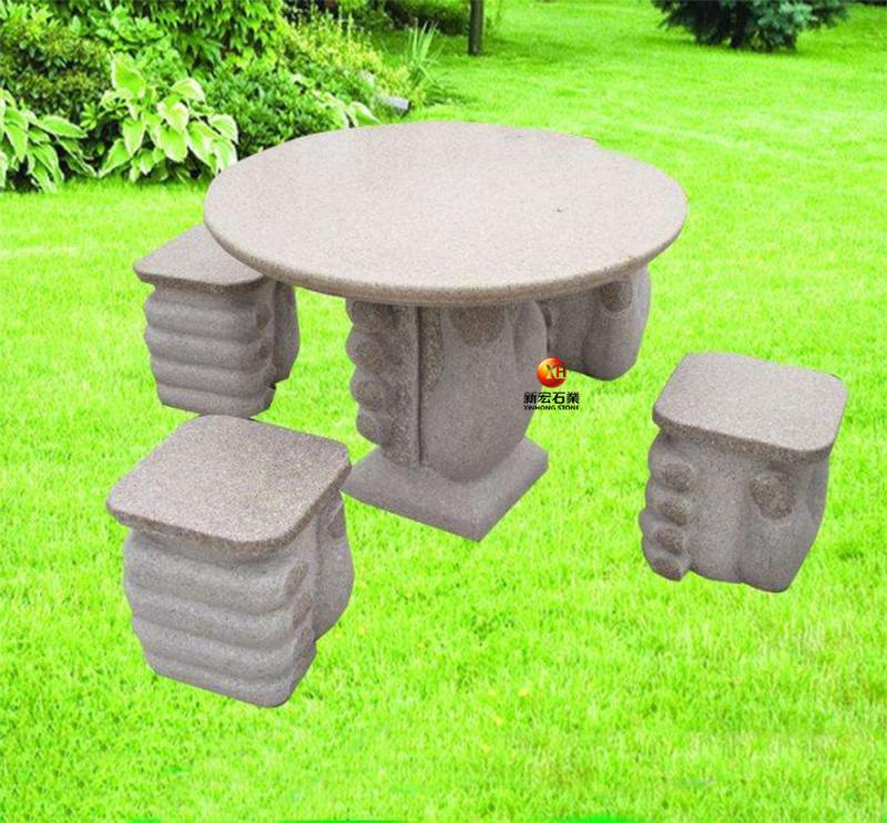 厂家供应石桌椅天然中式石雕方圆形庭院花园室外阳台桌椅装饰