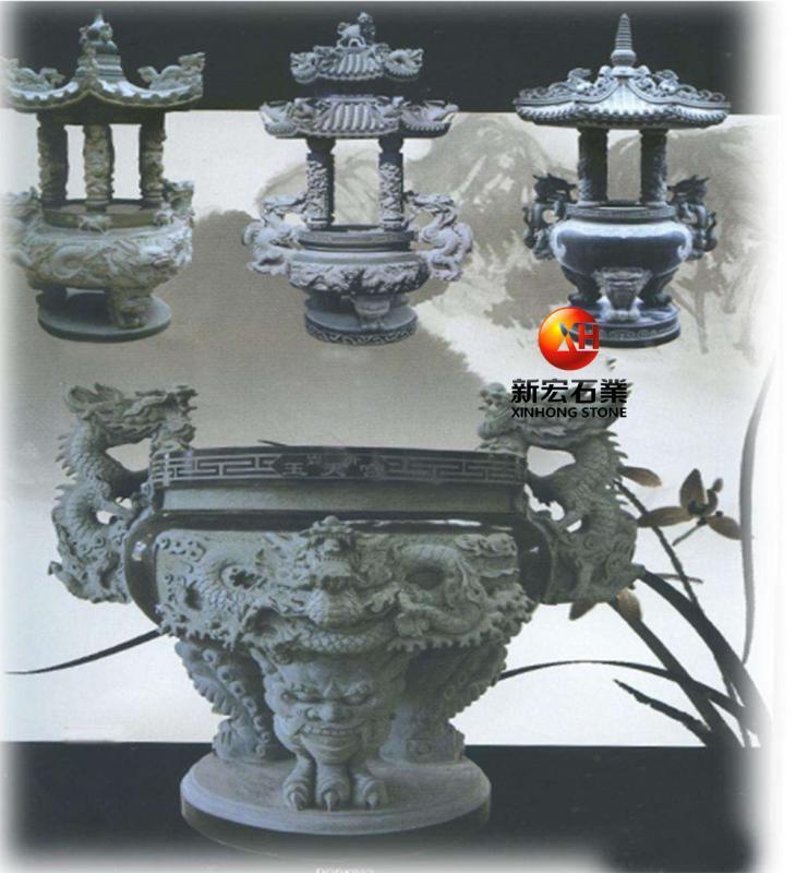廠家供應古建寺廟花崗巖香爐龍龜塔拱桌亭子桌椅浮雕雕刻