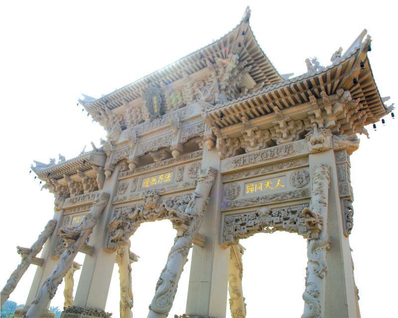 梅山寺牌楼展示