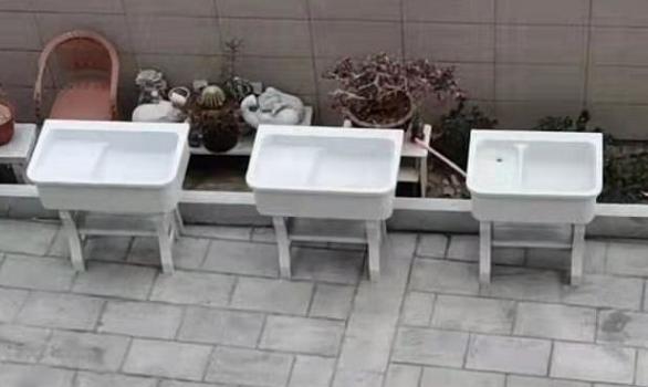 厂家供应石英石洗衣池一体搓板阳台水槽洗面盆单盆阳台家用酒店用