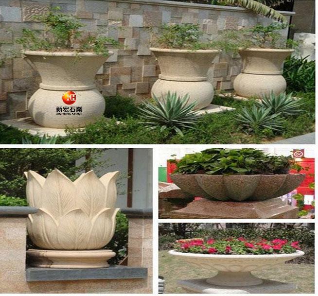 厂家供应广场公园家居花园喷泉欧式户外花钵花盆景观园林装饰