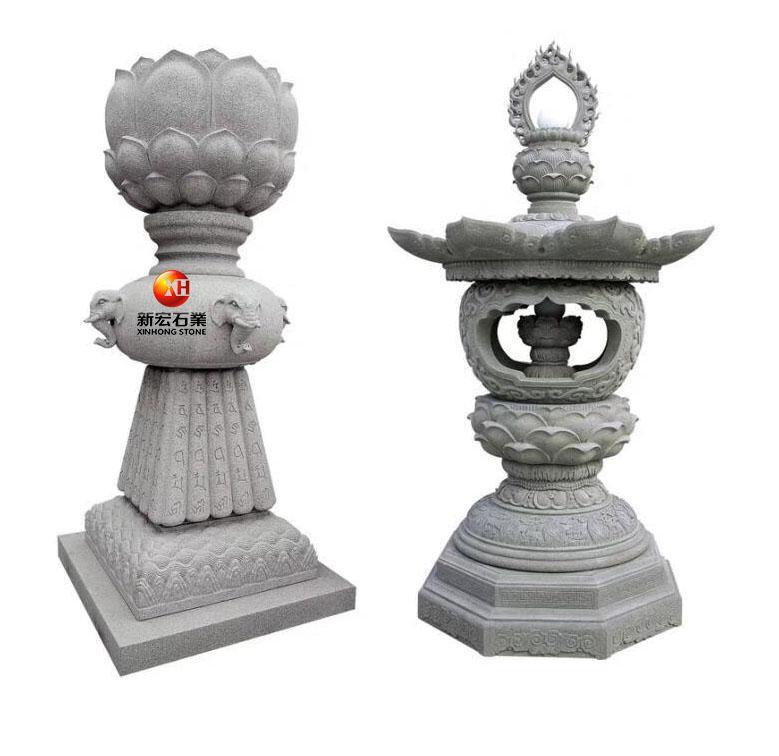 厂家供应石雕寺庙古建园林庭院花岗岩石灯塔佛塔雕刻设计