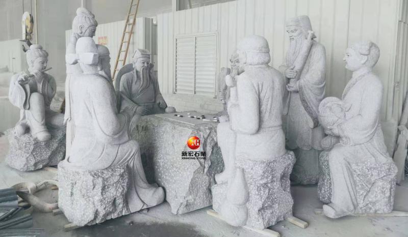 厂家供应景观石雕八仙雕像八仙过海雕塑吉祥文化