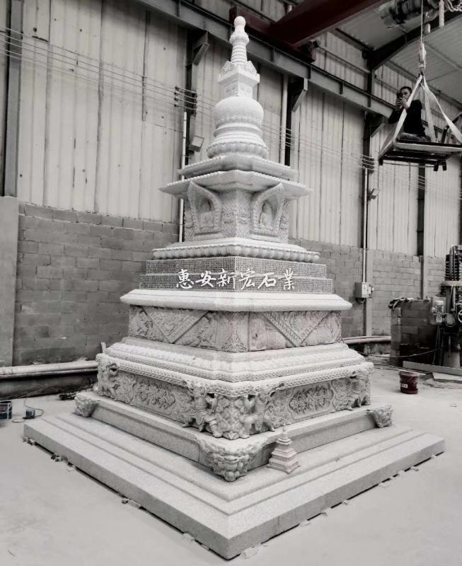 厂家供应寺庙石雕世界和平吉祥塔宝箧印陀罗尼经石塔