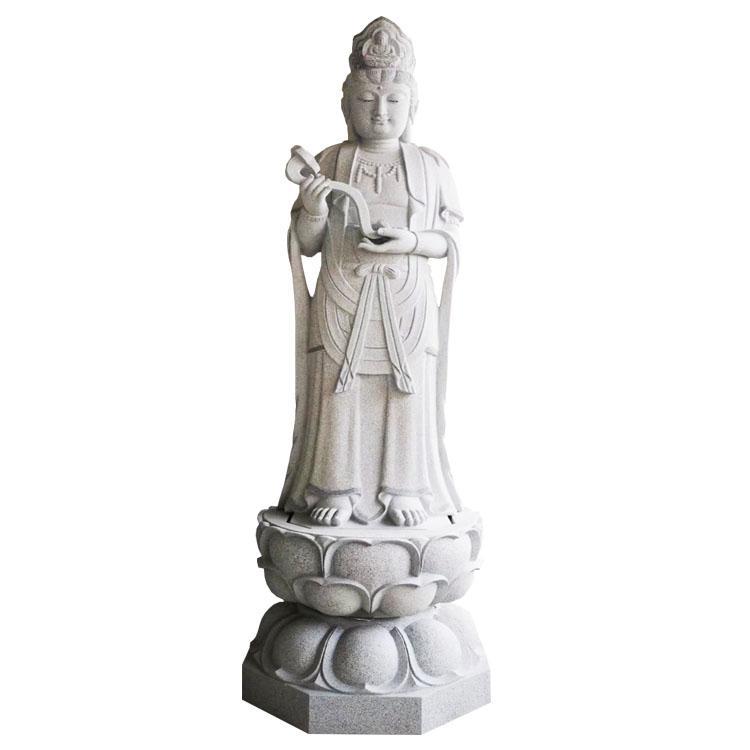 厂家供应寺庙古建广场工程石雕如意观音佛像雕刻设计