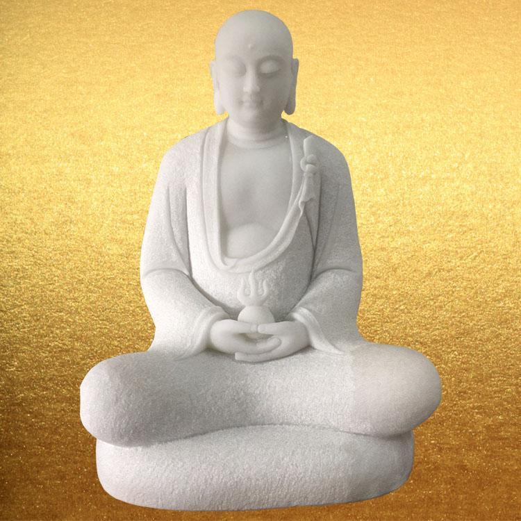 厂家供应汉白玉三圣释迦牟尼地藏菩萨佛像