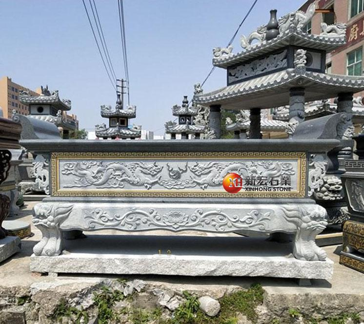 厂家供应石雕供桌香炉古建寺庙供桌烧香供放摆件雕刻