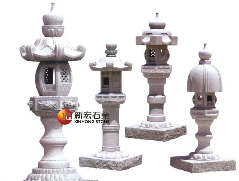 厂家供应寺庙石灯笼露天景观日式石灯笼雕塑