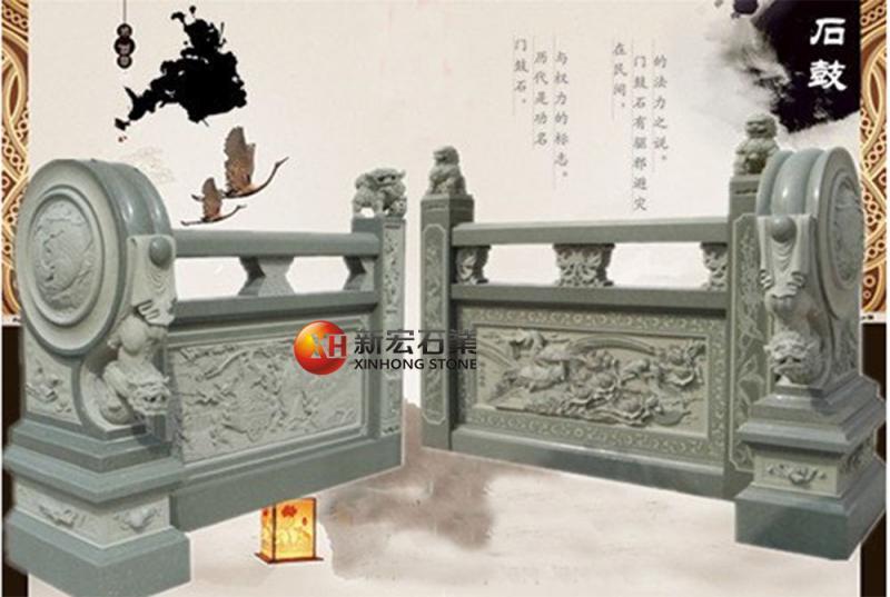 厂家供应石雕供桌寺庙古建祠堂抱鼓门槛摆放雕刻
