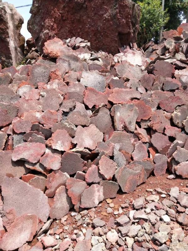 红色火山岩浮石切片