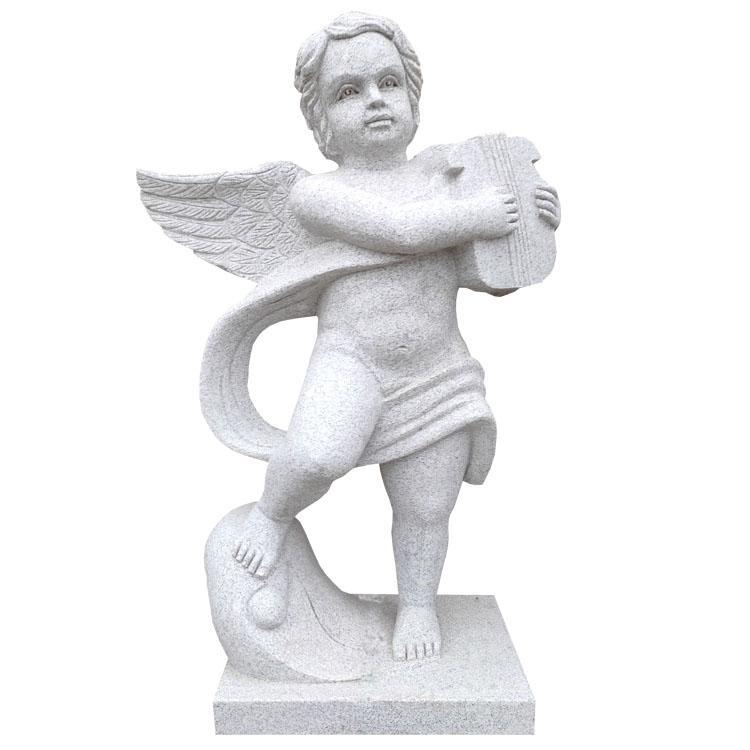 厂家供应石雕雕刻花岗岩欧式天使雕像庭院石雕摆件雕塑