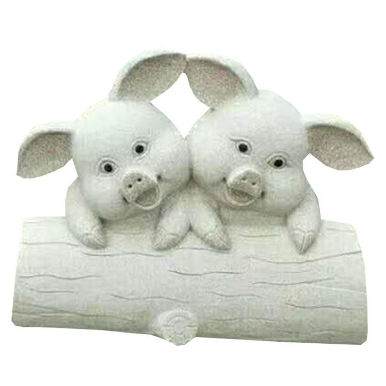 厂家供应景观公园小区广场动物石雕亲子猪兔子摆件雕刻