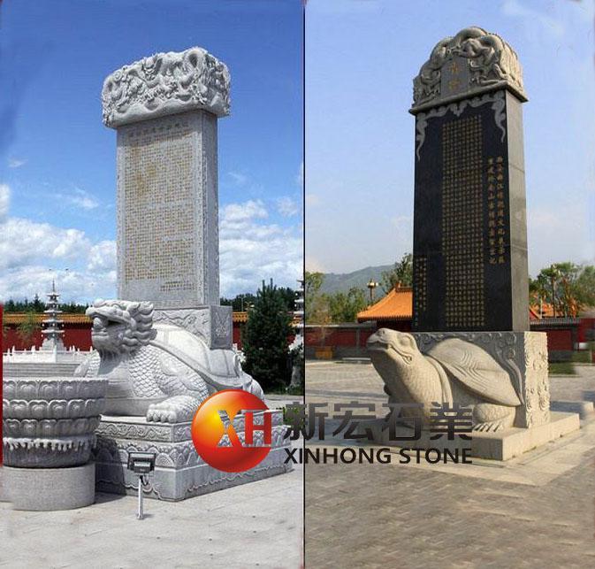 厂家供应石雕龟驮碑雕刻大型寺庙龟驮碑石雕龙头龟雕刻