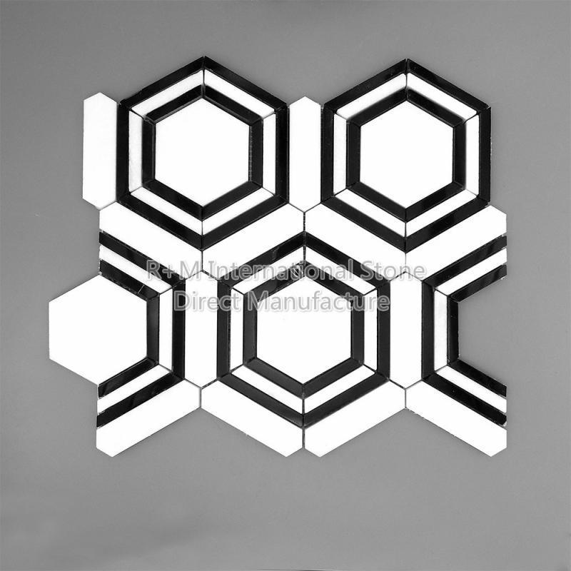 希腊水晶白 大六角形马赛克
