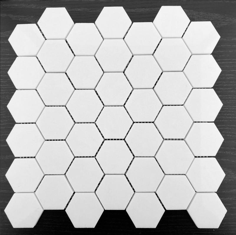 希腊水晶白 48六角马赛克