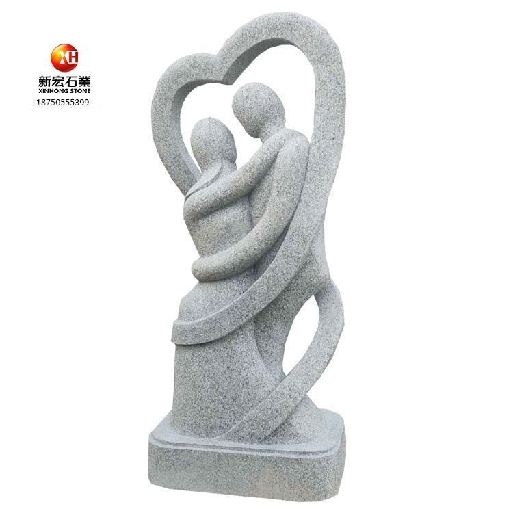 厂家供应人物石雕广场艺术石雕花岗岩石雕人物抽象雕塑