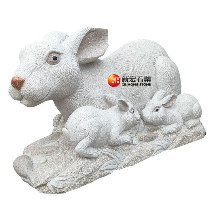 廠家供應石雕景觀園林小區公園動物雕刻品雕塑擺件