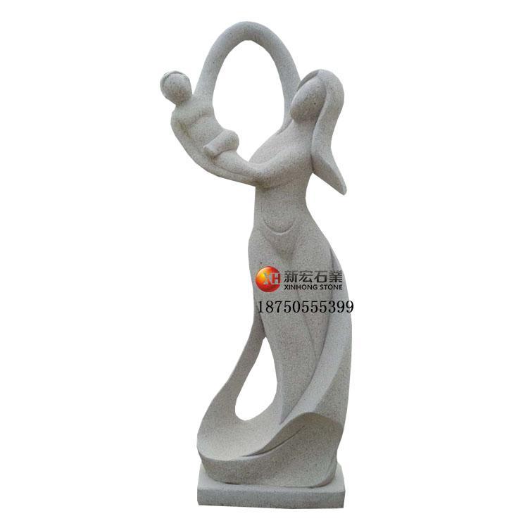 廠家供應公園市政工程居家花園現代抽象人物石雕雕塑雕像設計