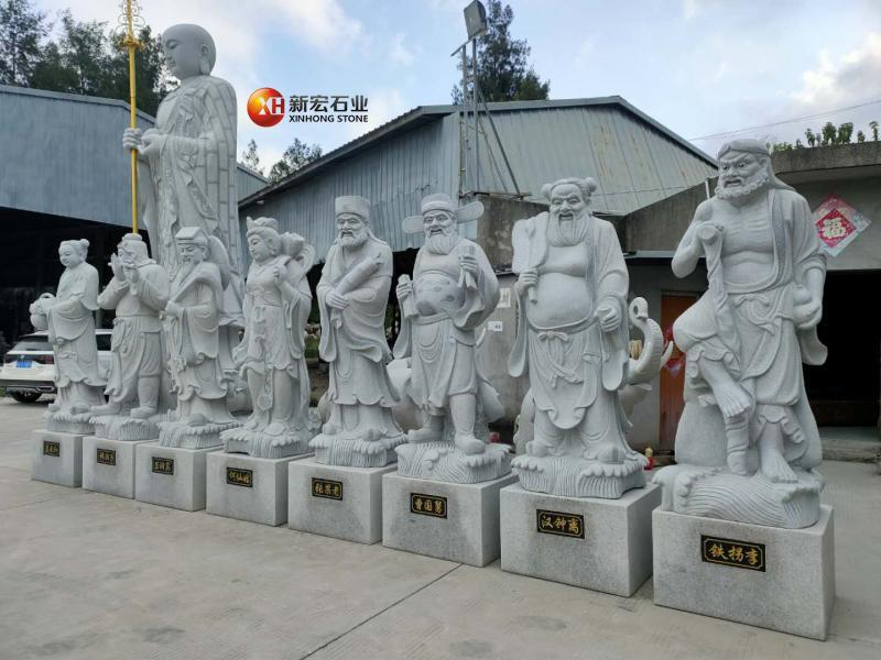 廠家供應園林景區石雕八仙 人物雕刻 道教神仙福祿壽人物擺件