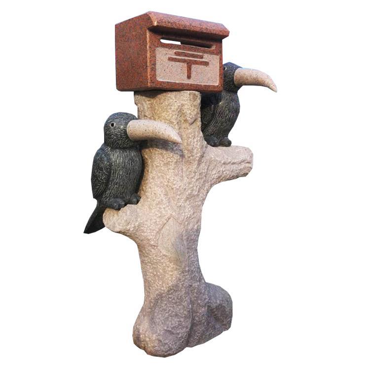 厂家供应石雕信箱动物信箱石猫头鹰信箱风景区摆件