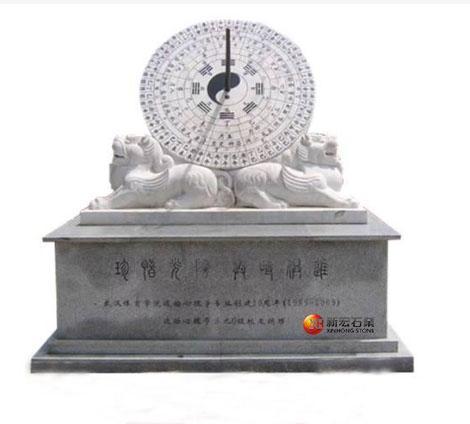 廠家供應日晷 石雕羅盤指南針 校園廣場石雕日規雕塑