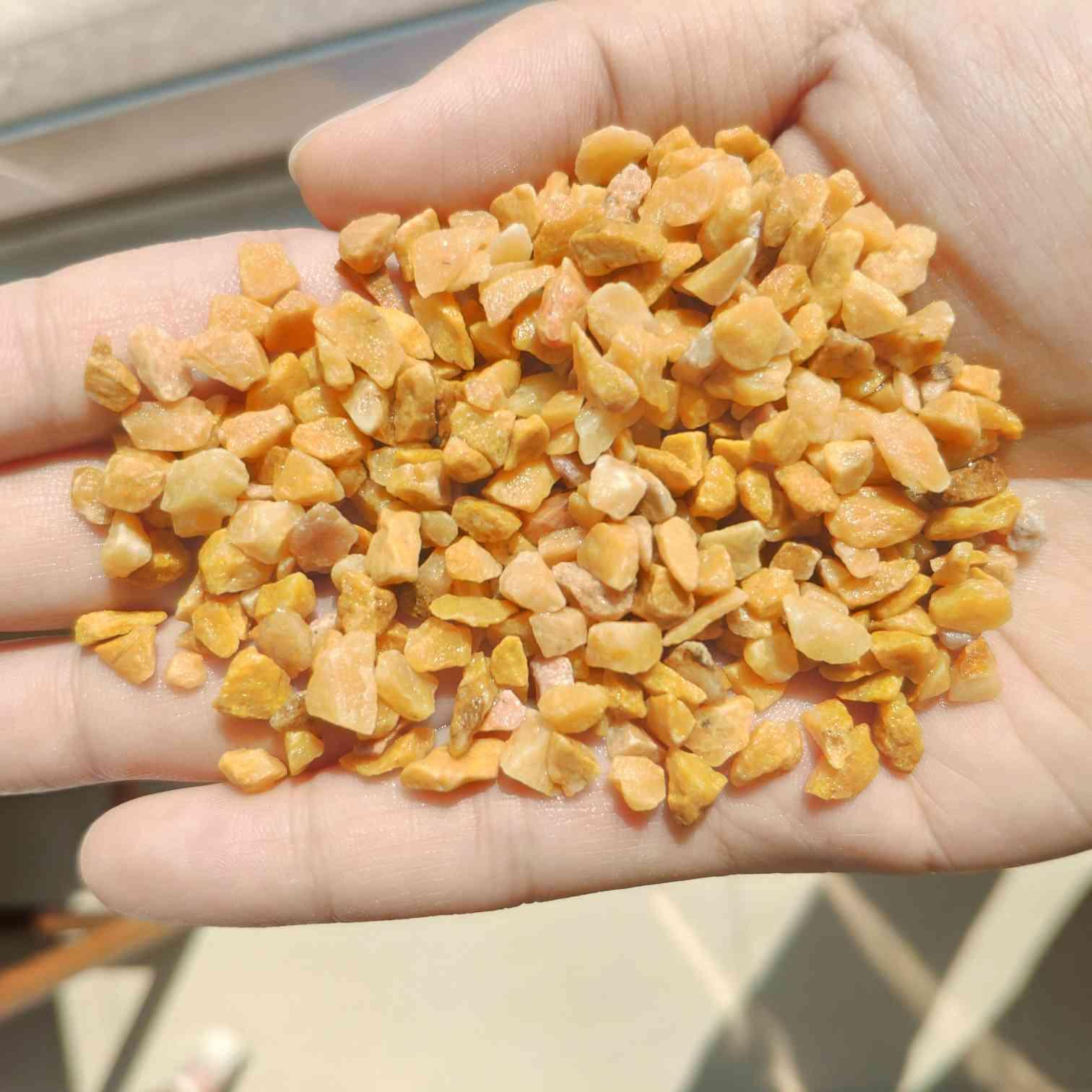 河南水洗石 黄色水洗石石子 米黄透水石厂家批发
