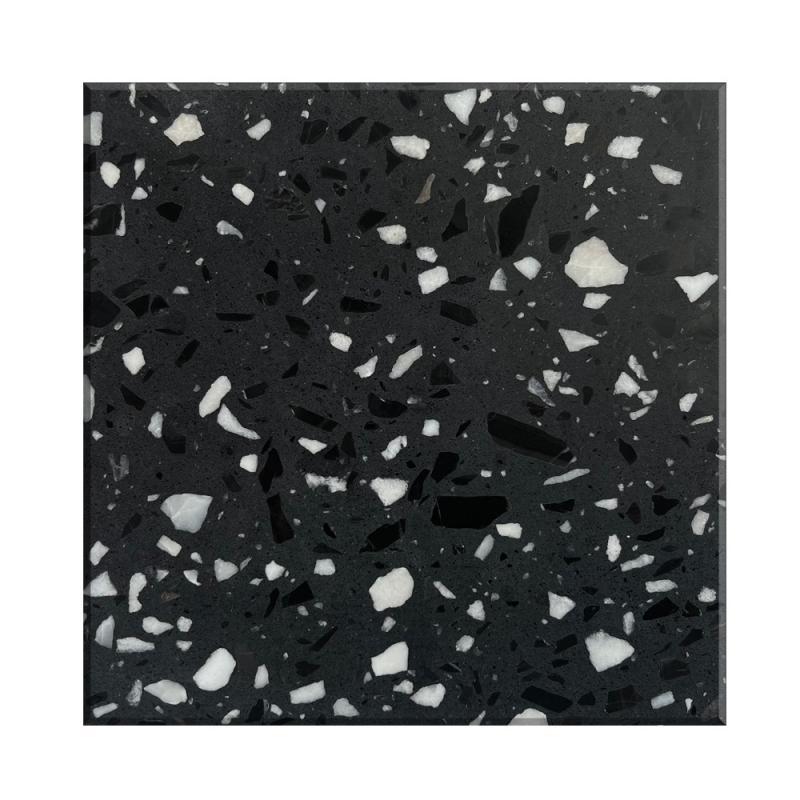 黑色無機水磨石